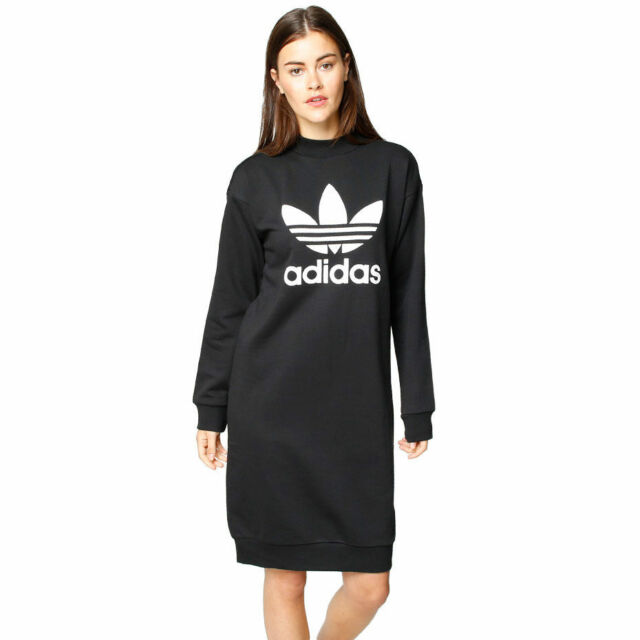 93c52742ac67 adidas Originals W Trefoil Sweatshirt Black Dress Size UK 6 8 10 12 ...
