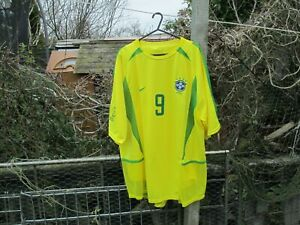 42ea7a9d171 Nike Brazil World Cup 2002 Final Player Issue Football Shirt L Large ...