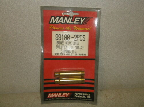 Twin Cam 88 and Evo 19-2pcs  Manley Bronze Valve Guides Big Twin /& Sportster