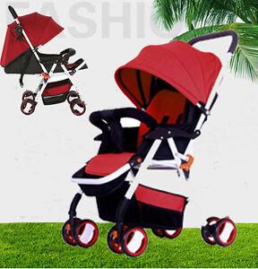 New-Deluxe-Alloy-Frame-Layback-Recline-Umbrella-Fold-Baby-Stroller-Lightweight