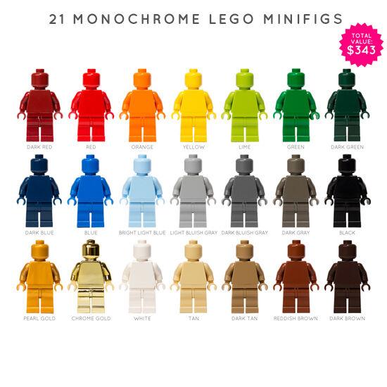 LEGO: SET OF 21 MONOFIGS (Monochrome Minifigures)