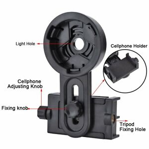 Cell-Phone-Holder-Adapter-Mount-Binocular-Monocular-Spotting-Scope-Telescope-NEW