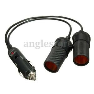 12V-Double-Power-Dual-Car-Cigarette-Lighter-Socket-Plug-Adaptor-Charger-US-NEW