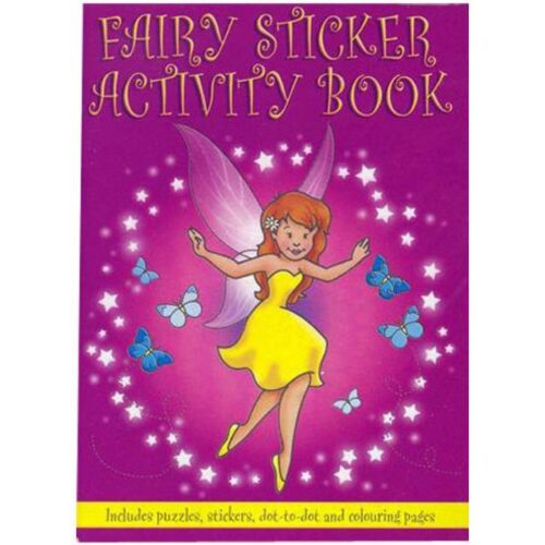 A6 Sticker Activity Books Colouring Pages Puzzle Dot to Dot Party Bag Filler Toy
