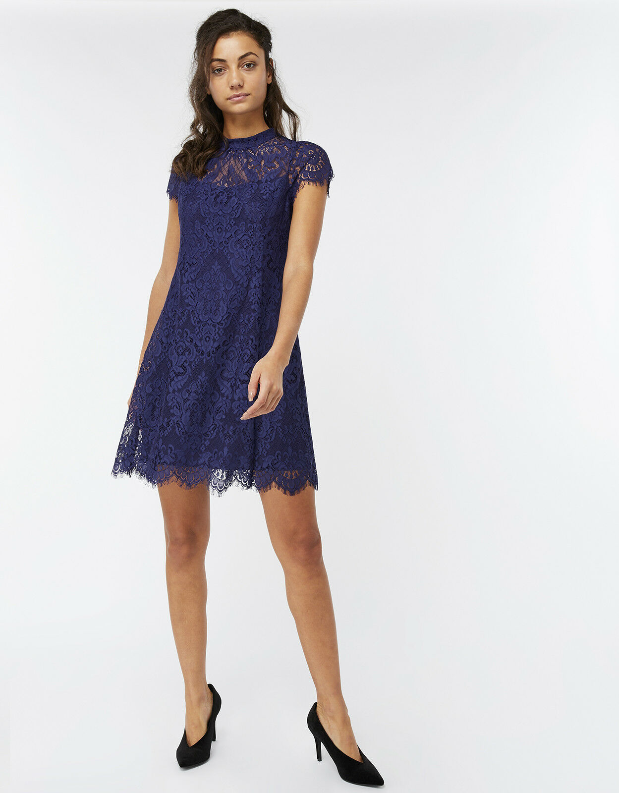 Nuovo Monsoon Monsoon Monsoon Nellie Cobalt blu Lace Dress Sz 14 Feste Nozze Cruise 1 9e079d