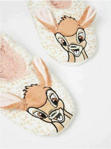Disney Bambi Pantoufles UK 5//6 Medium Cosy /& Chaud Noël