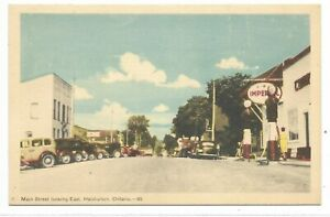 Haliburton-County-HALIBURTON-ONTARIO-Main-Street-looking-East-Imperial-Oil-Sign