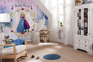 368x254cm-Habitacion-Nina-Azul-Decoracion-Papel-Pintado-Mural-Disney-Frozen-Elsa