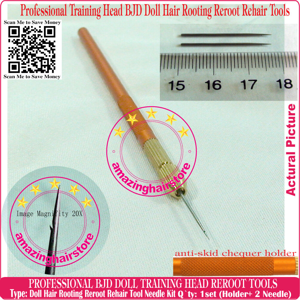 Resin Training Head MLP BJD Dolls Hair Rooting Reroot Reborn Needle Tools 2 pcs