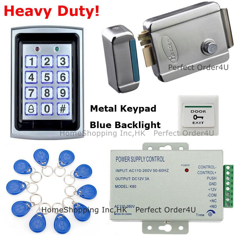 125KHz Puerta de Seguridad de la tarjeta RFID y contraseña Sistema De Control De Acceso + Cerradura Eléctrica