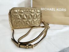 e7eaa2017955 item 6 NWT Michael Kors Ginny Quilted Leather Camera Medium Bag Crossbody  Pale Gold 228 -NWT Michael Kors Ginny Quilted Leather Camera Medium Bag  Crossbody ...