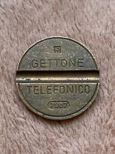 Vintage GETTONE TELEFONICO  Italian Telephone Token Button Fun Verbal Button 1516