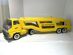 Vintage-1970-039-s-Tonka-Car-Carrier-Pressed-Steel