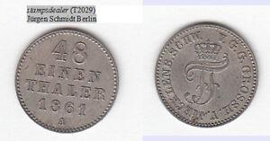 stampsdealer Mecklenburg-Schwerin 1/48 Taler 1861 A recht hübsch lovely