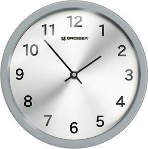 BRESSER-Wall-Clock-Stainless-Steel-Matte-Graphite-25-x-4-5-x-25-cm