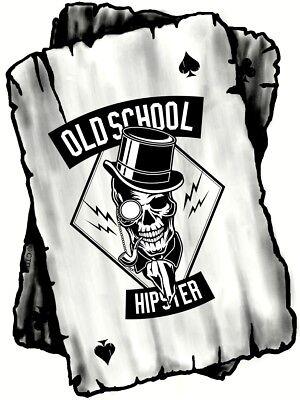 B&w ASS Spielkarte mit Hipster Skull Motiv Vinyl Auto Aufkleber Decal 100x75mm   eBay