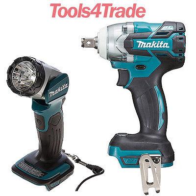 Makita DTW285Z 18V LXT 1//2in Impact Wrench With DML802 14.4V//18V LED Work Light