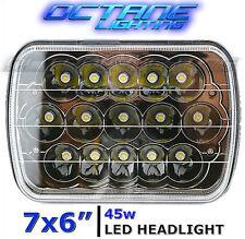 "7X6"" Black Chrome LED HID Cree Light Bulbs Clear Sealed Beam Headlamp Headlight"