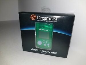 NEW-OFFICIAL-SEGA-DREAMCAST-GREEN-LCD-VISUAL-200-BLOCKS-MEMORY-UNIT-CARD-VMU