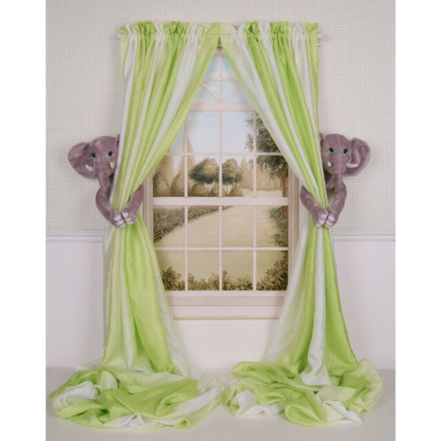 Curtain Critters Designer Baby Nursery Decor Elephant Tieback Holdbacks