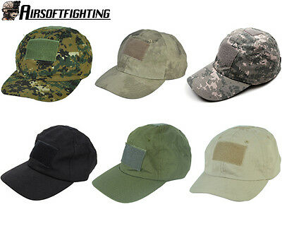 Airsoft Tactical Baseball Cap Hat with Loop Attachment Base Black/OD
