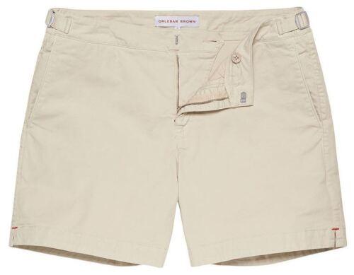 ORLEBAR Brown Bulldog cotone OYSTER Pantaloncini NUOVO AUTENTICO