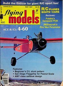 Vintage Flying Models Magazine May 1987 Ace R/C's 4-60 Pee Wee Penetrator m323