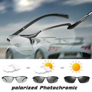 6cced35a5b Image is loading Mens-Photochromic-Sunglasses-Polarized-Eyewear-Transition -Lens-Driving-