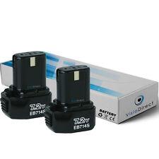 Lot de 2 batteries 7.2V 1500mAh pour Hitachi D 10dB - Société Française -