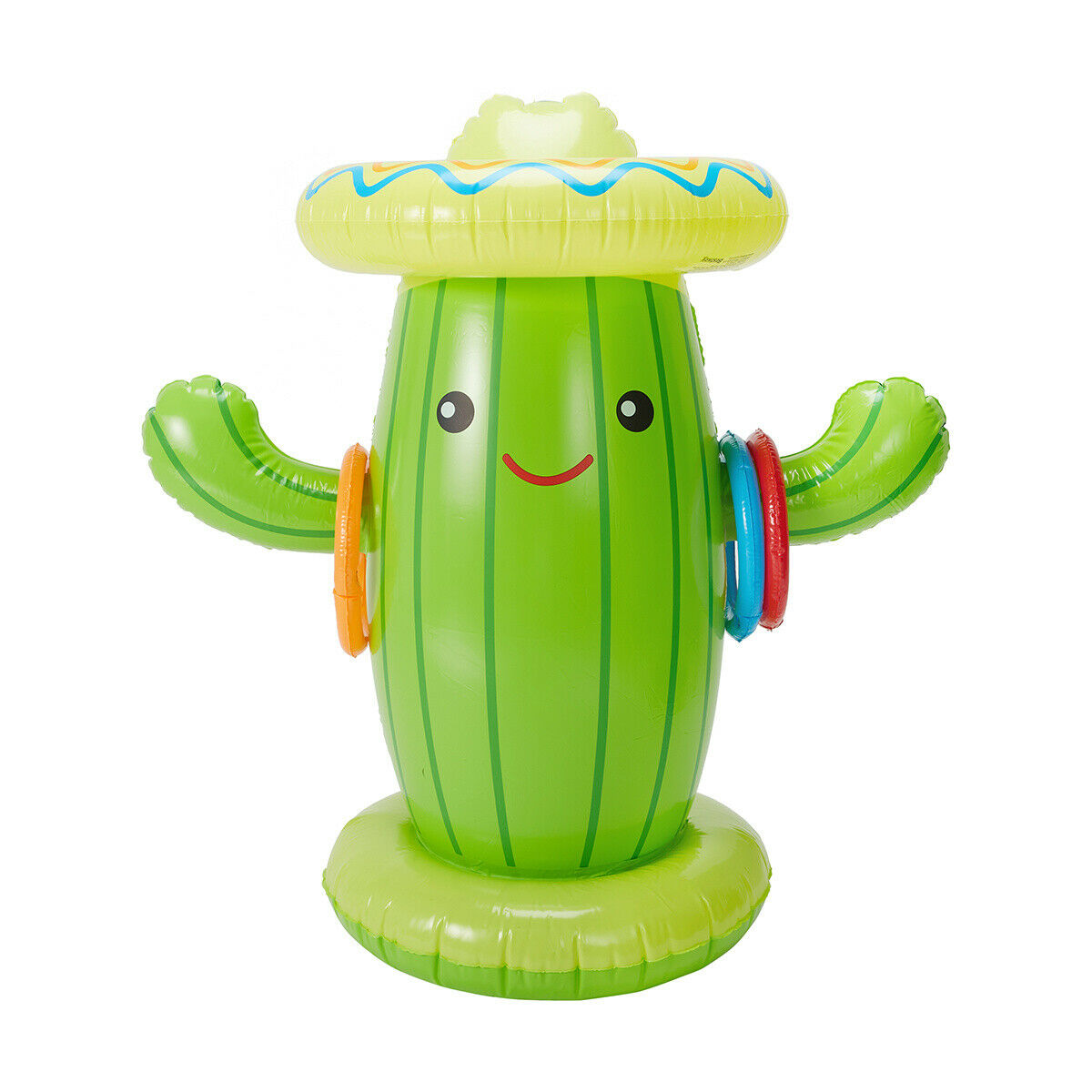 Inflatable Sprinkler For Kids Fun Cactus Toy Children Active Water Toss Rings F1