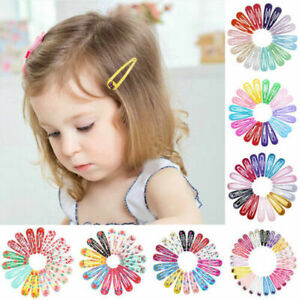 20pcs 5cm Snap Hair Clips for Hair Clip Pins BB Hairpin Colors Metal Barrettes