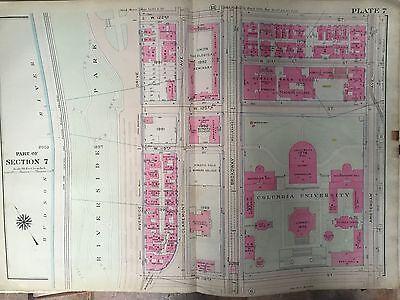 MAP ATLAS COLUMBIA UNIVERSITY 1914 BROMLEY MANHATTAN MORNINGSIDE HEIGHTS COPY