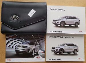 kia sorento owners manual handbook wallet 2014 2017 pack 16651 rh ebay ie kia sorento 2014 owner's manual kia sorento 2014 owner's manual