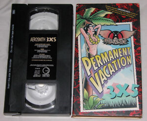 Aerosmith-Permanent-Vacation-3-x-5-VHS-1988-Exclusive-Uncensored-Versions