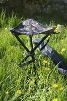 Tree Deep Camo Camouflage Folding Fishing Or Shooting Hide Tripod Seat Stool