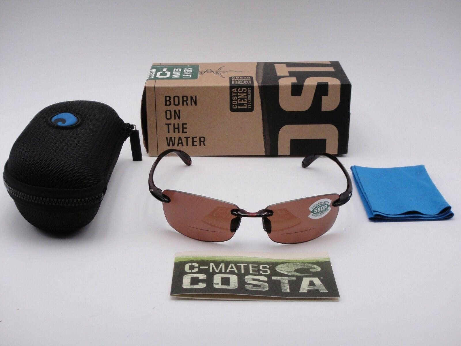 Costa Del Mar Ballast 580P Polarized Sunglasses Bifocal Readers BA 10 OGP 2.00