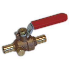 Watts 12 Pex Crimp Style Shut Off Brass Ball Valve With Drain Outlet Full Port