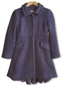 Philosophy-Di-Alberta-Ferretti-Women-039-s-Size-4-Lilac-Purple-Wool-Cashmere-Peacoat