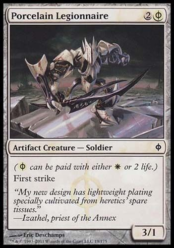 4x Porcelain Legionnaire New Phyrexia MtG Magic White Common 4 x4 Card Cards