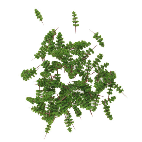 100pcs Green Model Trees 1:400-1:500 4cm TC40