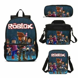 a9ec613f09b0 Details about Boys Roblox Large School Backpack Insulated Lunch Bag  Crossbody Bag Pen Bag Lot