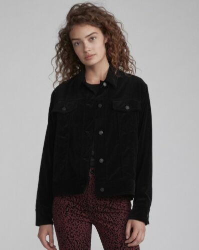 Jacket Velvet Oversized Nuova Womens Nwt Rag Piccola Black Bone Taglia qHtxB1wXA
