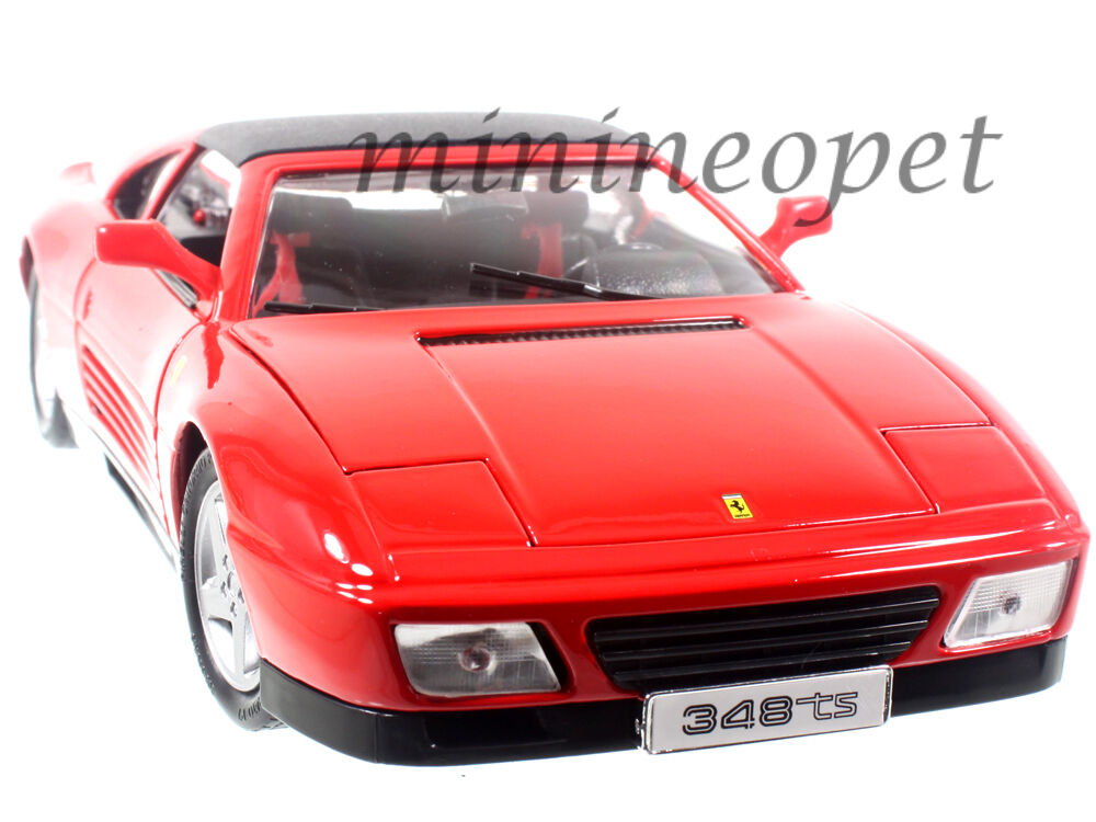 BBURAGO 18 -16006 FERRARI 348 TS 1  18 DIESAT modellllerL bil röd