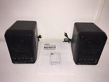 Pair of Yamaha MS101 II Powered Monitor Speakers & Manual - Set 2 Lot MS101II