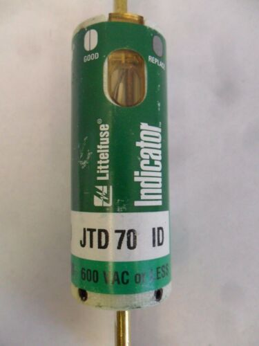 New Littelfuse JTD70 ID 70 Amp Indicator Fuse Bussmann LPJ 70SP 600 Volts