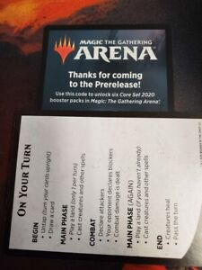 Details about MTG Arena Core Set 2020 Pre-Release EMAIL CODE ONLY for 6  packs of M20 1 per act