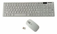 Ultra Slim Wireless Keyboard & Mouse With Numeric Keypad 2.4GHz - White