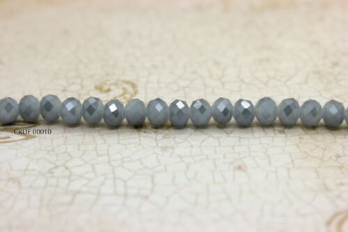 """5mm x 6mm, 15/"""" Full Strand Crystal Faceted Rondelle Chinese Crystal Beads"""
