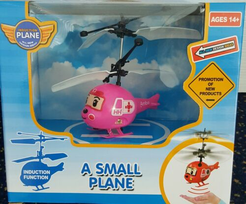 Budgie Flying Helicopter RC Plane Hand Sensor Toy Kids Cartoon LED Light Ambe P