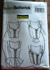 Butterick Pattern B4669 Womens Corset 14-20 Costume Renaissance Making History